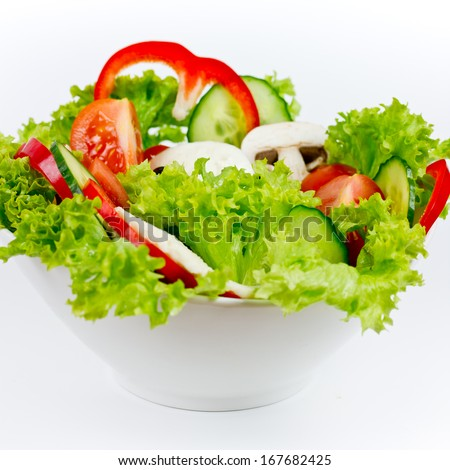 mixed salad in bowl