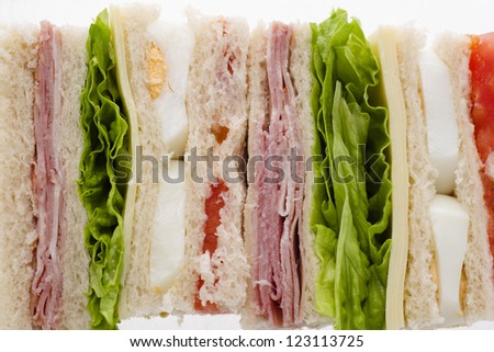 mixed Sandwiches - stock photo
