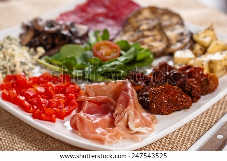 mixed starters - stock photo
