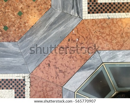 Mixed Stone Tile Floor Stock Photo Royalty Free 565770907