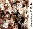 Mixed technics, Abstract painting - stock photo