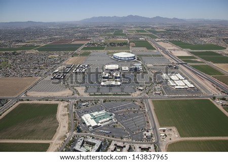 Mixed Use venue of Sports, Shopping, Dining and Accommodations in Glendale, Arizona - stock photo
