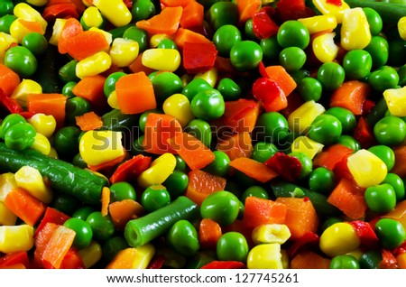 Peas and carrots Stock Photos, Illustrations, and Vector Art
