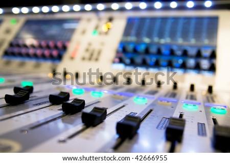 mixer audio - stock photo