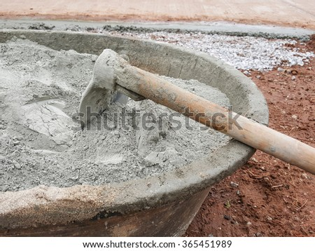 Mixer cements for building home - stock photo