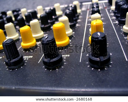Mixer Knobs - stock photo