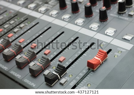 Mixer music, mixer board, mixer for background.