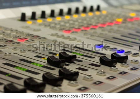 mixer studio, technology, television, tv broadcasting