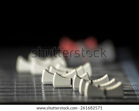 Mixing board , for music and sound , entertainment themes - stock photo