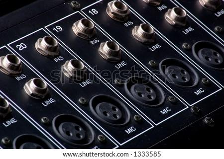 Mixing Board Inputs - stock photo