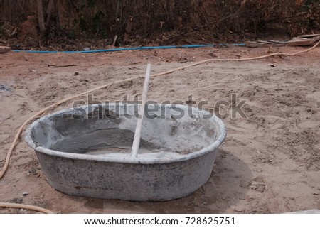 Mixing cement for construction