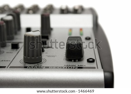 Mixing Desk (Close View) - stock photo