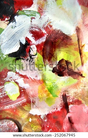 Mixing painting and vivid strokes - stock photo