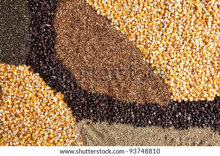 Mixing seeding - stock photo