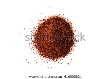 Mixture of spices isolated on white top view - stock photo