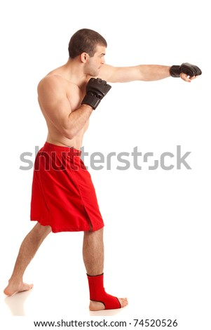 MMA Fighter - stock photo