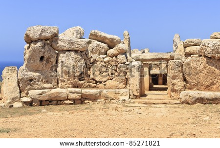 Mnajdra Temple in Malta - stock photo