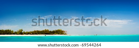 Mnemba island, a tropical paradise in africa - stock photo