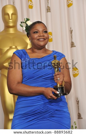 Mo'Nique at the 82nd Academy Awards at the Kodak Theatre, Hollywood. March 7, 2010  Los Angeles, CA Picture: Paul Smith / Featureflash - stock photo