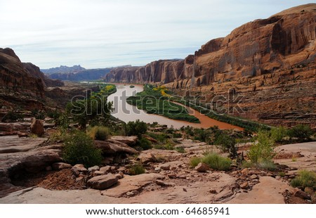 Moab Rim Jeep Trail above Colorado River