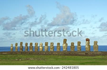 Moai - stock photo