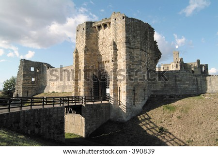 Moat and Gatehouse of Warkworth Castle, Northumberland