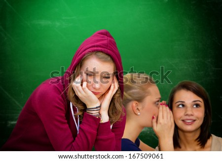 Mobbing in school - stock photo