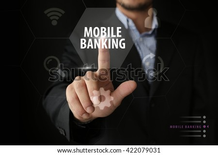 Mobile Banking - stock photo