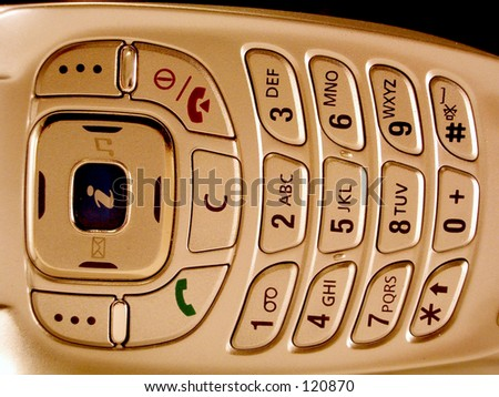 Mobile buttons - stock photo
