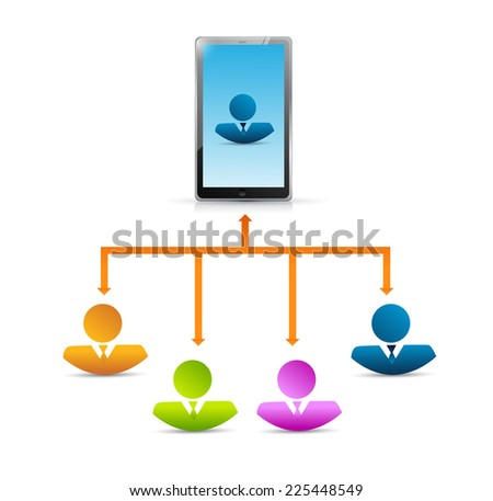 mobile connection access illustration design over a white background
