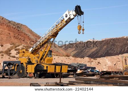 Mobile Construction Crane - stock photo