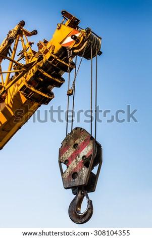 mobile crane boom - stock photo