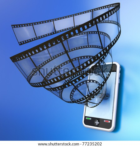 Mobile device video - stock photo