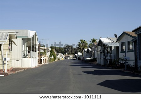 Mobile home park - stock photo