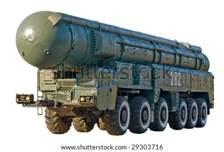 Mobile nuclear ballistic missile - stock photo