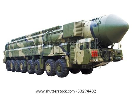 Mobile nuclear ballistic missile - stock photo