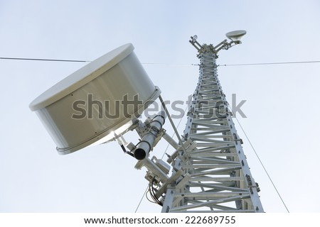 Mobile phone base station communications tower