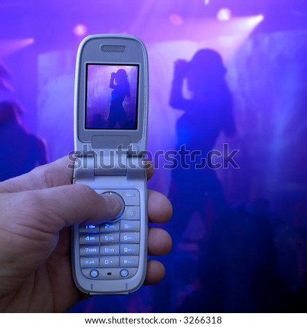 Mobile phone camera taking picture - stock photo