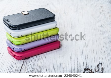 mobile phone cases - stock photo
