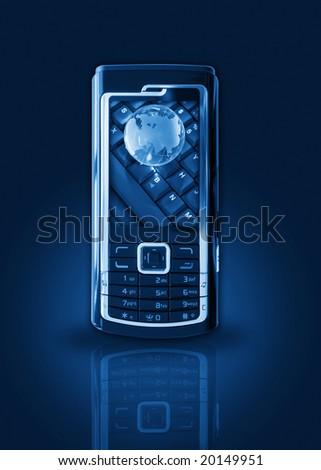 Mobile phone gprs concept - stock photo
