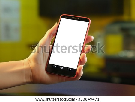 Mobile phone in the hands