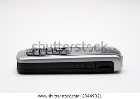 mobile phone isolated - stock photo