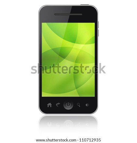 Mobile phone isolated on white background - stock photo