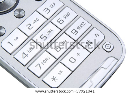 Mobile phone keyboard - stock photo