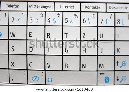 mobile phone keypad - stock photo
