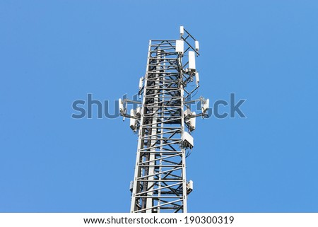 Mobile phone mast antenna