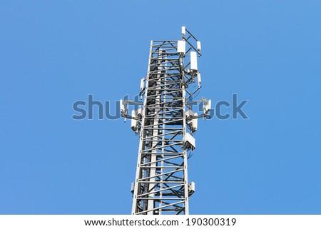 Mobile phone mast antenna - stock photo