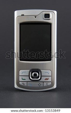 mobile phone on black - stock photo