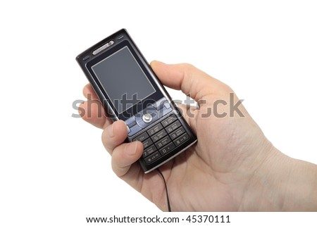 mobile phone on palm