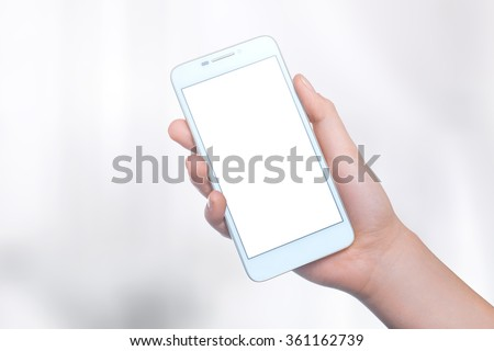 Mobile phone on the background. Mobile technology. Mobile photo. Insert text - stock photo
